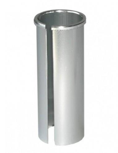 1 plata aluminio plata 400mm Ergotec 57772001 tija de sillín patentada Hook Ø 27,2mm