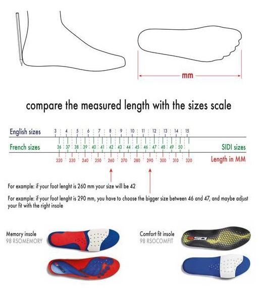 tallas de zapatillas sidi ciclismo
